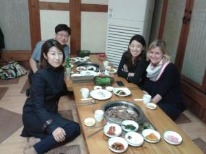 Mittagessen mit den koreanischen Kolleginnen