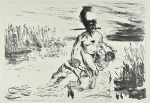 Max Slevogt, Achill und die Gefangenen, 1907