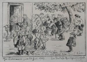 Heinrich Zille, Geburtstagsblatt für Max Liebermann, 1927, MLG