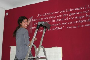 """Vorbereitung der Ausstellung """"Liebermann und Van Gogh"""""""