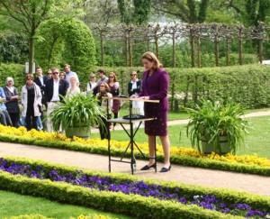 Die Botschafterin des Königreichs der Niederlande, Monique van Daalen, bei der Eröffnungsrede