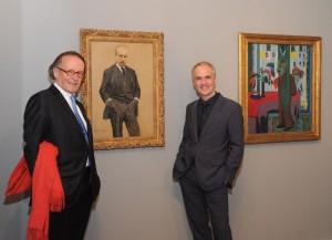 Prof. Dr. Peter-Klaus Schuster und Dr. Martin Faass auf der Vernissage