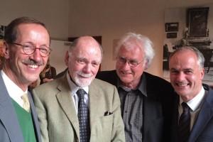 Prof. Paret mit Wolfgang Immenhausen und Dr. Martin Faass (Liebermann-Villa) und Dr. Hans Gerhard Hannesen (Akademie der Künste)