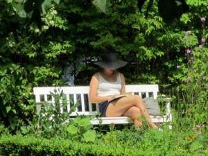 Kurze Pause im Garten.