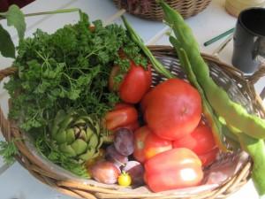 Frisches Gemüse aus dem Liebermann-Garten