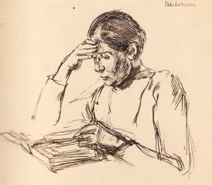 Max Liebermann, Lesende (Martha Liebermann), Max Liebermann-Gesellschaft Berlin