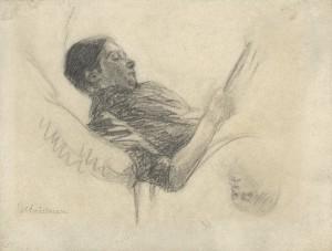 Max Liebermann, Die Frau des Künstlers beim Lesen, 1885, Max-Liebermann-Gesellschaft Berlin