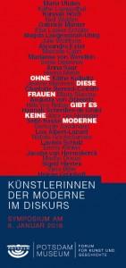 """Werbeflyer des Potsdam Museums für das Symposium """"Künstlerinnen der Moderne"""""""
