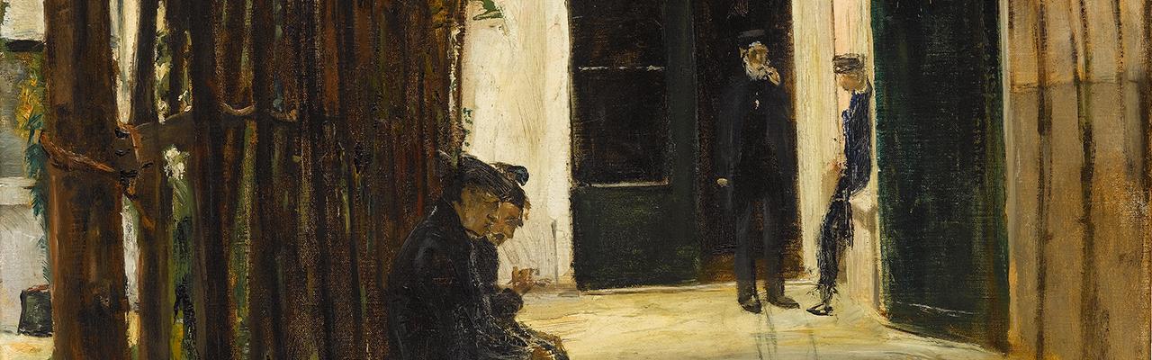 Max Liebermann, Altmännerhaus in Amsterdam, 1880. Öl auf Leinwand, 87,5 x 61,40 cm, Staatsgalerie Stuttgart, erworben 1903, zwangsweise getauscht 1937, zurückerworben 1953. Inv. Nr. 2421 Foto: © Staatsgalerie Stuttgart